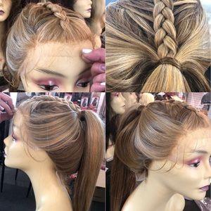 Light color lace Lacefront wig blonde 2216 bleach